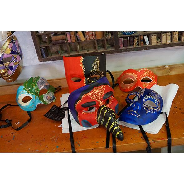 Karnevalsmasken selber machen Online-Seminar