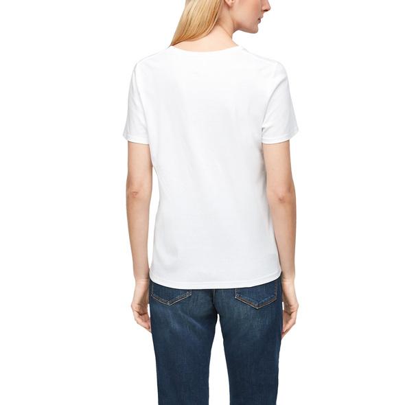 Jerseyshirt mit V-Neck - T-Shirt