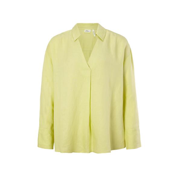Lockere Bluse aus Leinenmix - Bluse