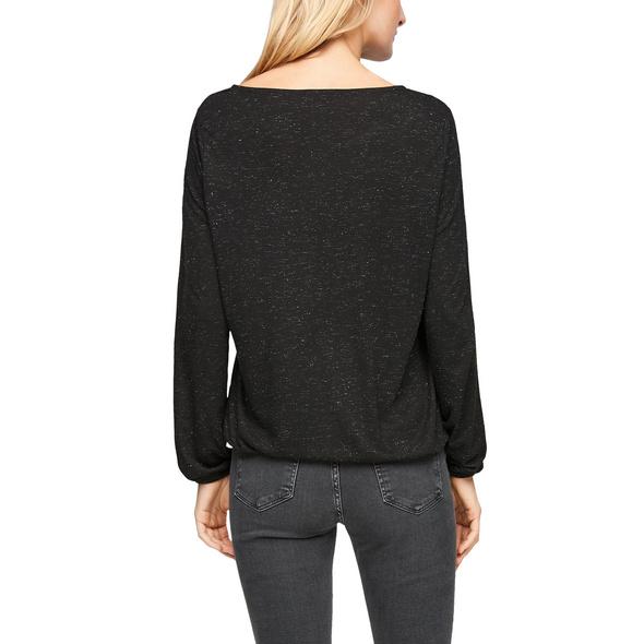 Jerseyshirt mit Cut Out-Detail - Langarmshirt