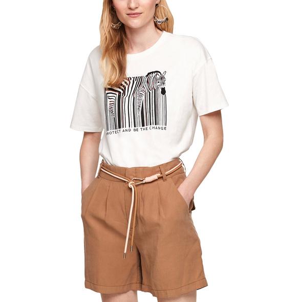 T-Shirt mit Frontprint - Jerseyshirt