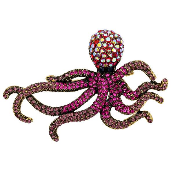 Brosche - Shiny Octopus