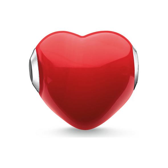 Thomas Sabo Karma Bead Glas Herz Rot