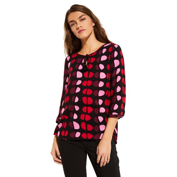 3/4-Arm Shirt mit aufwendig gestaltetem Allovermuster - Mustershirt