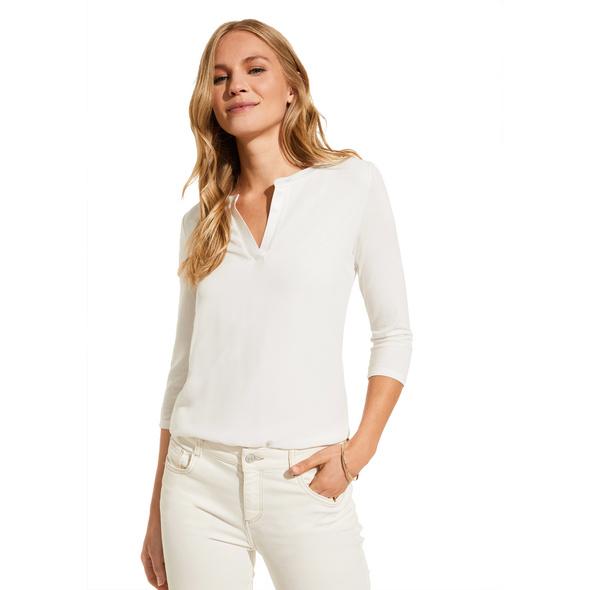 Jerseyshirt mit Chiffon-Front - Shirt
