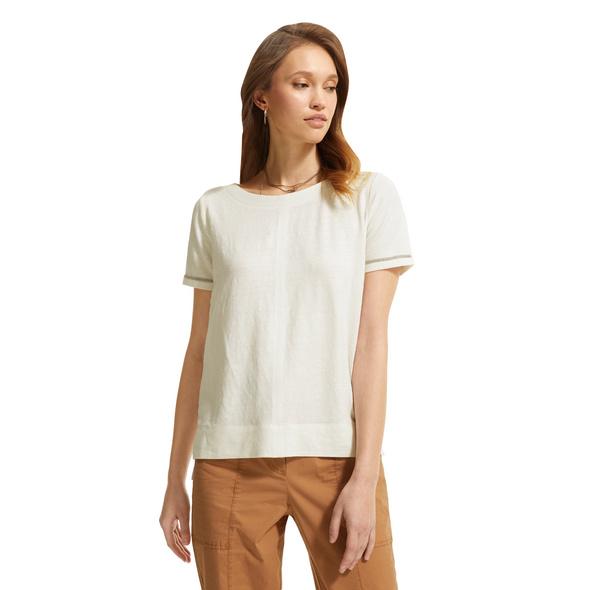 T-Shirt mit Schmuck-Tape - Leinenshirt
