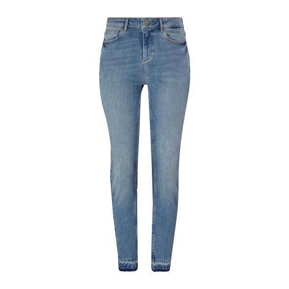 Slim Fit: Jeans mit offenem Saum - 7/8-Jeans
