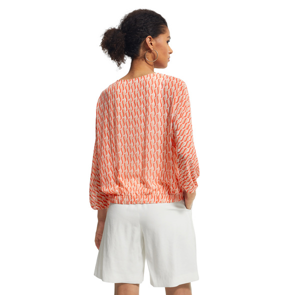 Layer-Bluse mit fixiertem Jersey-Top - Chiffonbluse