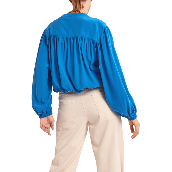 Lockere Bluse aus Cupro-Mix - Bluse