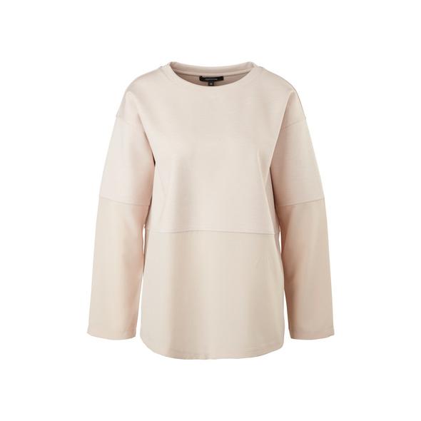 Lockeres Shirt im Fabricmix - Langarmshirt