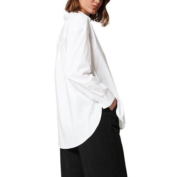 Lockere Bluse mit Streifen - Popeline-Bluse