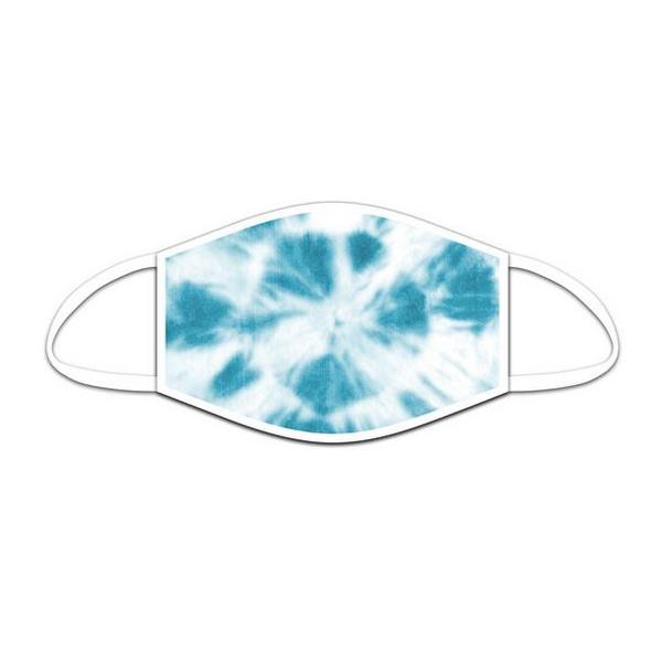 Mund-Nasen-Maske Batik blau