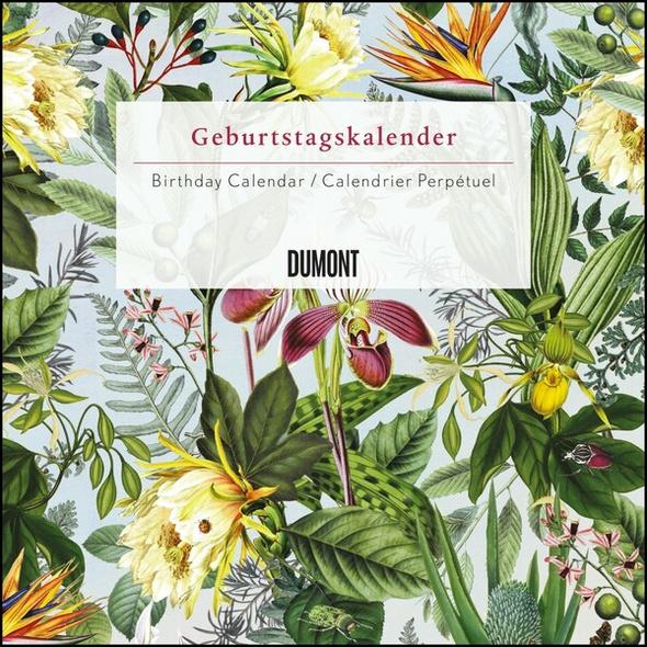 Immerwährender Geburtstagskalender floral – Archive by Portico Designs – Quadrat-Format 24 x 24 cm