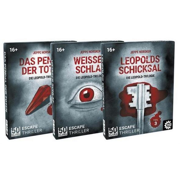 Carletto 646256 - 50 Clues, Das Pendel der Toten, Die Leopold-Trilogie, Teil 1, Escape-Thriller, Krimi-Spiel