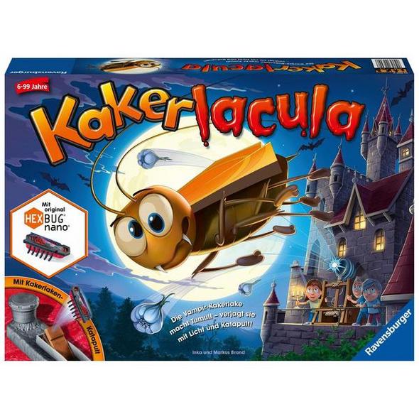 Ravensburger 22300 - Kakerlacula, Geschicklichkeitsspiel, Familienspiel