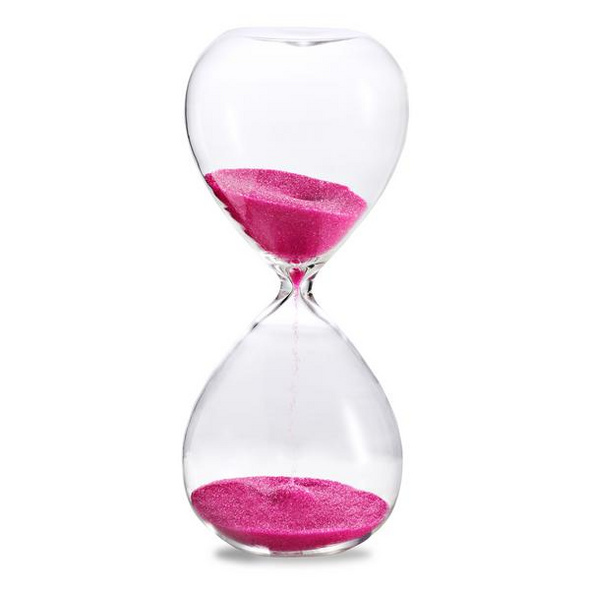 Sanduhr 'Time Out' 30 Minuten, pink