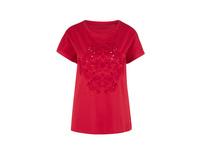 T-Shirt mit Lochstickerei - Jerseyshirt