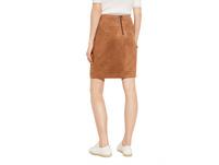 Pencil Skirt in Veloursleder-Optik - Rock