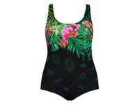Badeanzug, Blütenmotiv, Softcups, Normal-/Langgröße
