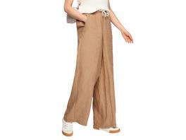 Regular: Wide Leg-Hose aus Leinen - Leinenhose