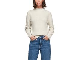 Strickpulli mit Stehkragen - Pullover