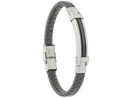 Herren Armband - Steel Leather